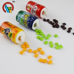 fruity chewing bubble gum in bottle