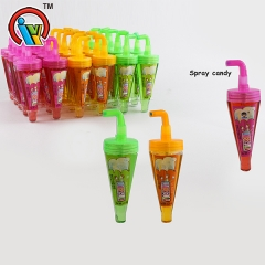 unbrella shape fruity spray liquid candy