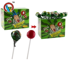 Fruity Hard Lollipop Candy with Bubble Gum